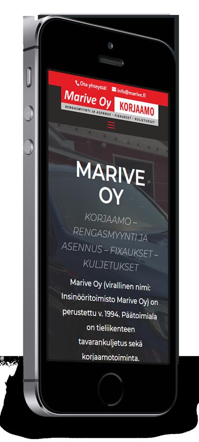 Mobiilioptimointi, kotisivut yritykselle Marive Oy toteuttaa Kotisivusi.fi.