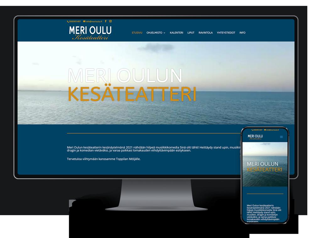 Kotisivut yritykselle Meri Oulun Kesäteatteri referenssi.