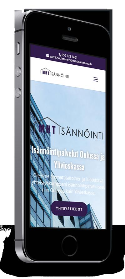Mobiilioptimointi, kotisivut yritykselle MHT Isännöinti Oy toteuttaa Kotisivusi.fi.