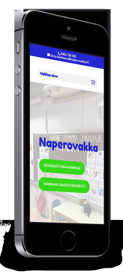 Mobiilioptimointi, kotisivut yritykselle Naperovakka toteuttaa Kotisivusi.fi.