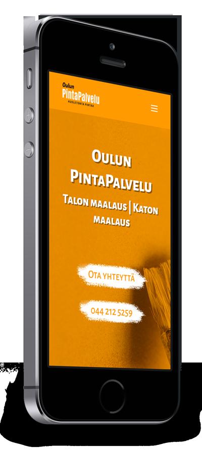 Mobiilioptimointi, kotisivut yritykselle Oulun PintaPalvelu Oy toteuttaa Kotisivusi.fi.