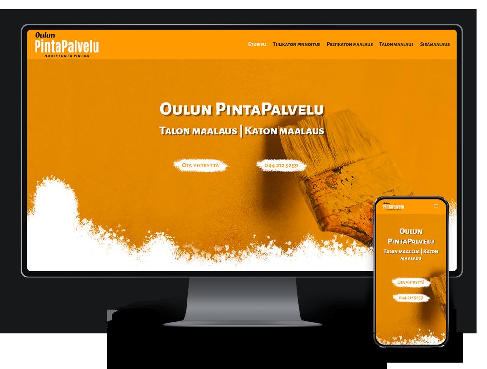 Kotisivut yritykselle Oulun PintaPalvelu Oy referenssi.