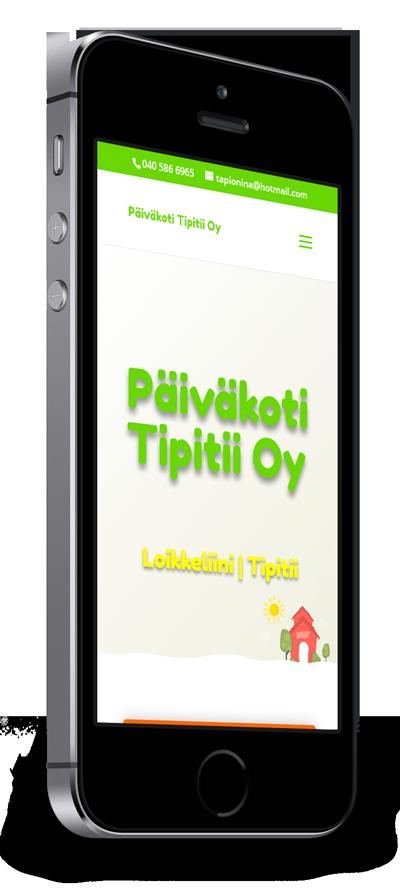Mobiilioptimointi, kotisivut yritykselle Luovat Päiväkodit, Päiväkoti Tipitii Oy toteuttaa Kotisivusi.fi.