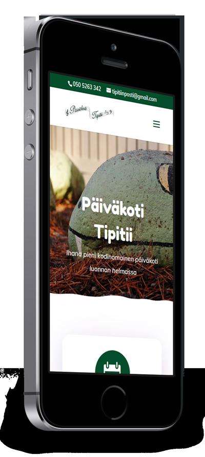 Mobiilioptimointi, kotisivut yritykselle Päiväkoti Tipitii toteuttaa Kotisivusi.fi.