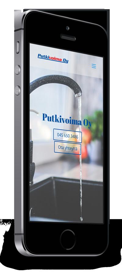 Mobiilioptimointi, kotisivut yritykselle Putkivoima Oy toteuttaa Kotisivusi.fi.