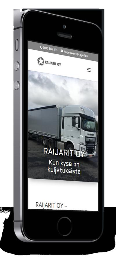 Mobiilioptimointi, kotisivut yritykselle Raijarit Oy toteuttaa Kotisivusi.fi.