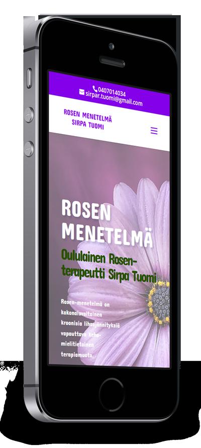 Mobiilioptimointi, kotisivut yritykselle Rosen-menetelmä Sirpa Tuomi toteuttaa Kotisivusi.fi.