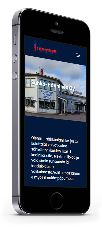 Mobiilioptimointi, kotisivut yritykselle Sähkö-Hänninen Oy toteuttaa Kotisivusi.fi.