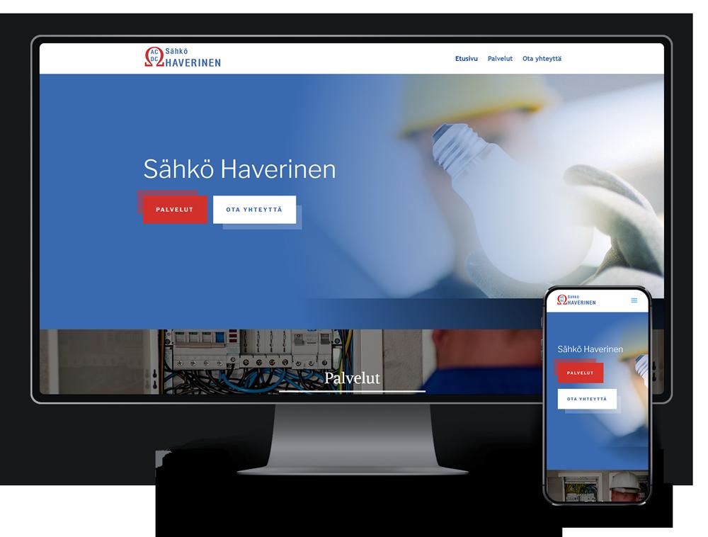 Kotisivut yritykselle Sähkö Haverinen referenssi.