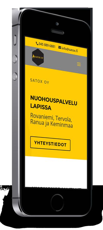 Mobiilioptimointi, kotisivut yritykselle Satox Oy toteuttaa Kotisivusi.fi.