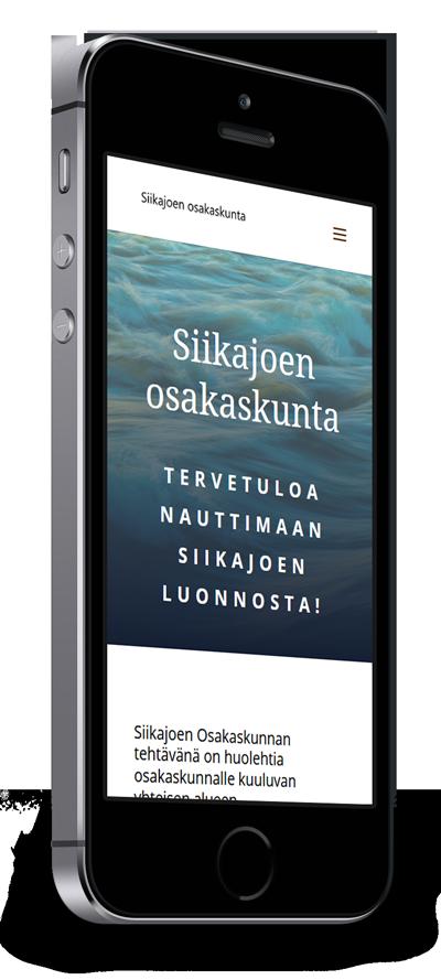 Mobiilioptimointi, kotisivut yritykselle Siikajoen Osakaskunta toteuttaa Kotisivusi.fi.