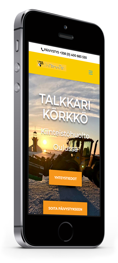 Mobiilioptimointi, kotisivut yritykselle Talkkari Körkkö toteuttaa Kotisivusi.fi.