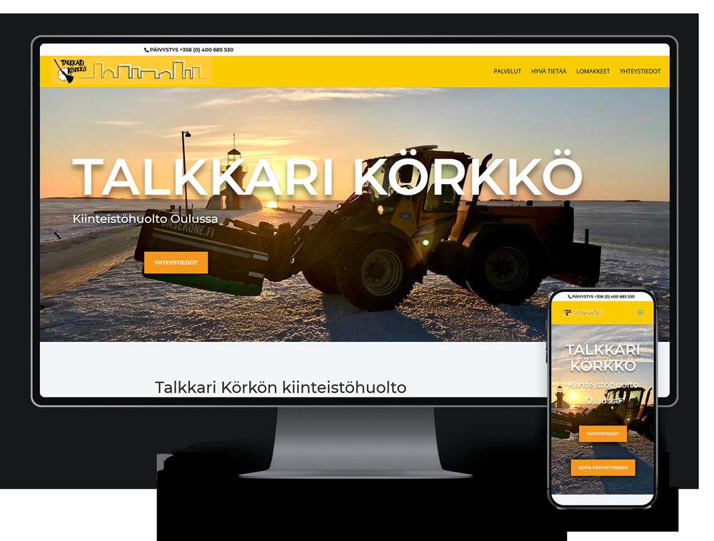 Kotisivut yritykselle Talkkari Körkkö referenssi.