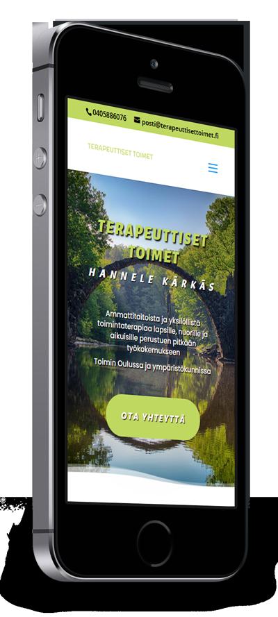 Mobiilioptimointi, kotisivut yritykselle Terapeuttiset Toimet Hannele Kärkäs toteuttaa Kotisivusi.fi.