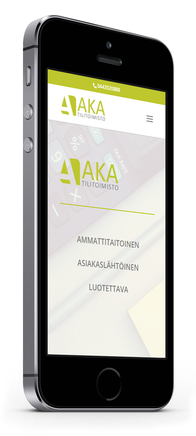 Mobiilioptimointi, kotisivut yritykselle Tilitoimisto AKA toteuttaa Kotisivusi.fi.