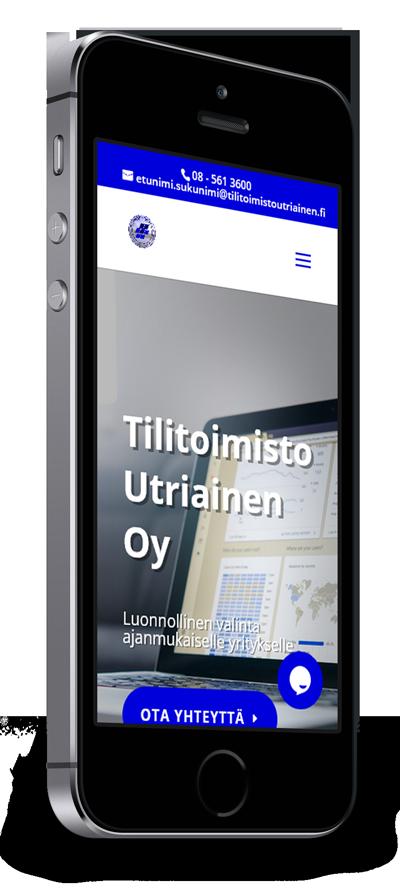 Mobiilioptimointi, kotisivut yritykselle Tilitoimisto Utriainen Oy toteuttaa Kotisivusi.fi.