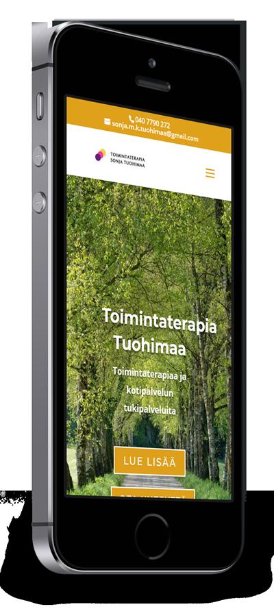 Mobiilioptimointi, kotisivut yritykselle Toimintaterapia Sonja Tuohimaa toteuttaa Kotisivusi.fi.