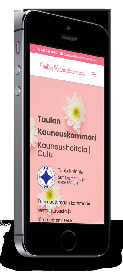 Mobiilioptimointi, kotisivut yritykselle Tuulan Kauneuskammari toteuttaa Kotisivusi.fi.