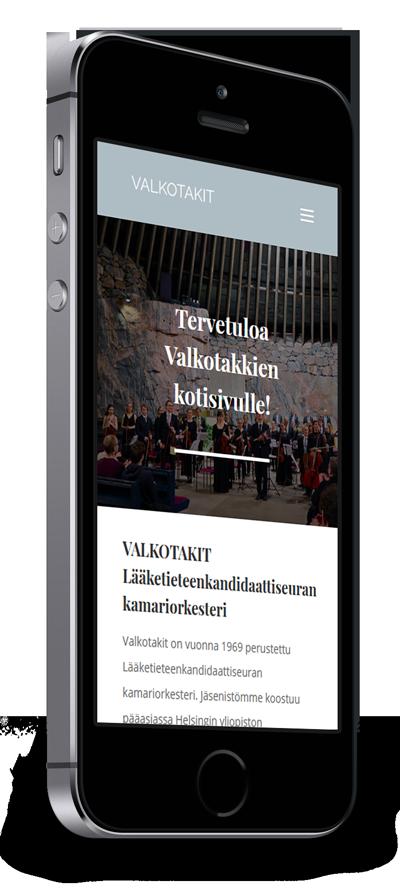 Mobiilioptimointi, kotisivut yritykselle Valkotakit toteuttaa Kotisivusi.fi.