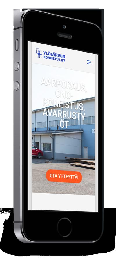 Mobiilioptimointi, kotisivut yritykselle Ylöjärven Koneistus Oy toteuttaa Kotisivusi.fi.