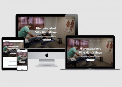 WordPress kotisivut yritykselle Hierontapalvelu Ville Hämäläinen